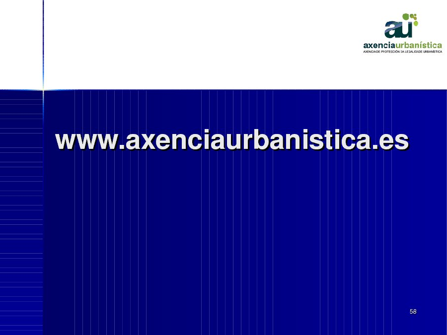 Presentación Isabel García Eiroa. Subdirectora da Axencia de Protección da Legalidade Urbanística